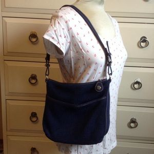 THE SAK navy shoulder bag purse